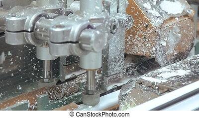 Process of working of window factory machine