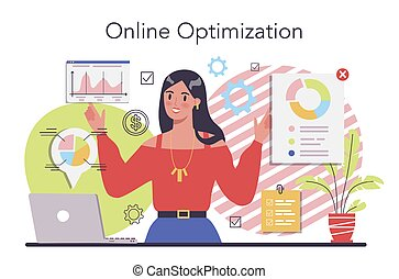 Process optimization concept. Idea of business improvement