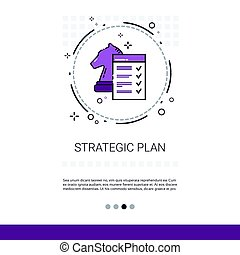 Process Planning Business Strategy Marketing Web Banner With Copy Space