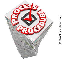 Process Procedure Workflow Paperwork Stack Busy Task Job -...
