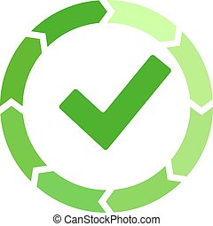 Process successfully completed vector icon