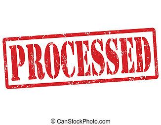 Processed stamp