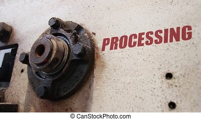Processing conceptual metaphor - Machine wheels rotating...