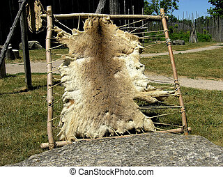 Processing fur - The old way of processing fur used by...