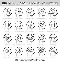 processo, 1, vetorial, mente, ícones