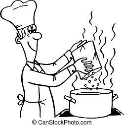 processo, cozinhar