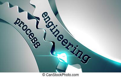 processo, gears., engenharia, metal