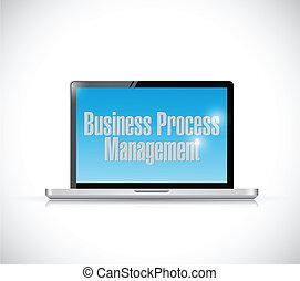 processo, gerência, ilustração negócio
