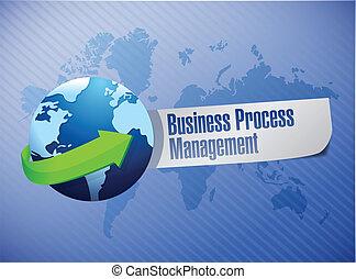 processo, globo, gerência, negócio