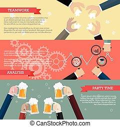 processo, infographic, trabalho equipe, negócio