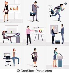 processo, negócio, elements., infographics