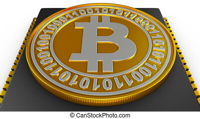 processor and bitcoin - The processor on the board and coin...