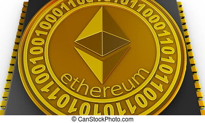 processor and ethereum - The processor on the board and coin...