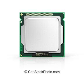 Processor. Computer processor with blank space. Hardware. 3d illustratio