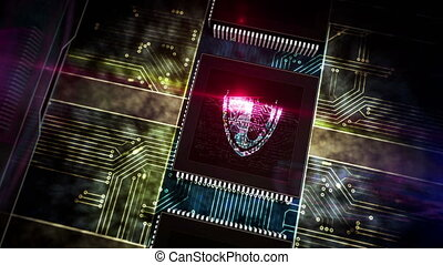Processor factory with laser burning of cyber security ...