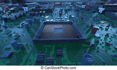 Processor Installation on the Motherboard Process with DOF...