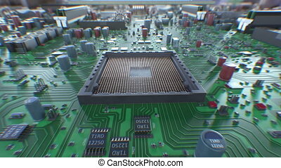 Processor Installation Process on the Motherboard with DOF...