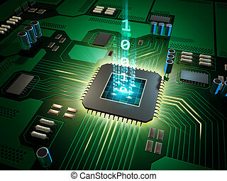 Processor power - Central Processing Unit on a printed ...