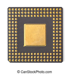 processor - computer processor isolated on white