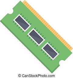 processor vector colour flat icon