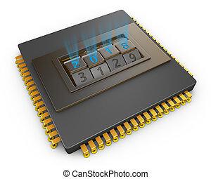processor with code lock 2018