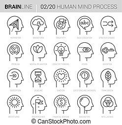 processus, 2, esprit, vecteur, icônes