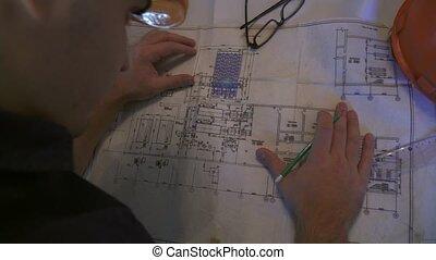 processus, architecte, concepteur, travail, ou