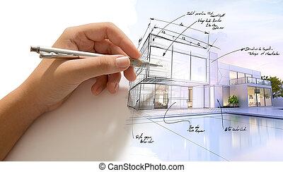 processus, architecture, créatif