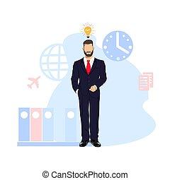 processus, business, homme affaires