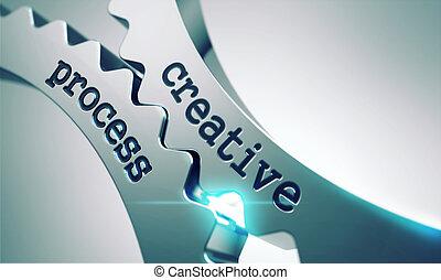 processus, cogwheels., créatif