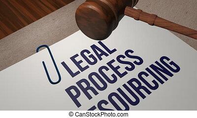 processus, concept, outsourcing, légal
