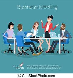 processus, concept., vecteur, business
