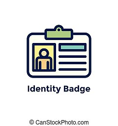 processus, -, embauche, employé, nouveau, écusson, identité, icône