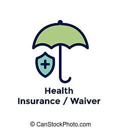 processus, embauche, santé, employé, nouveau, assurance, waiver, icône