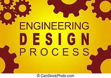 processus, ingénierie, concept, conception