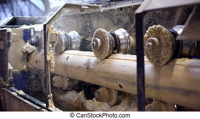 processus, machine, travail, moudre, sawmill.
