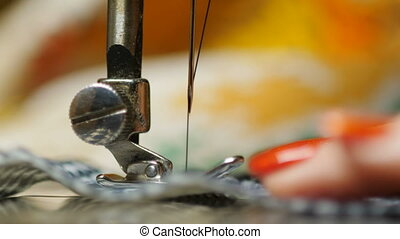 processus, machine, travail, vieux, couture