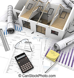 processus, maison, achat