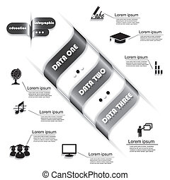 processus, moderne, infographic, conception, gabarit, education