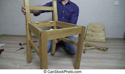 processus, montage, meubles