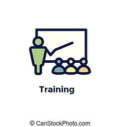 processus, nouveau, -, icône, personne, employé, recrues, formation, embauche