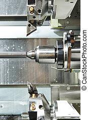 processus, outil métal, machine, tourner