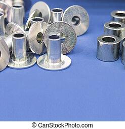 processus, partie, plating, fabrication, acier, zinc, ;