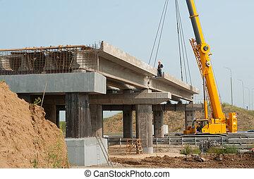 processus, pont, construction
