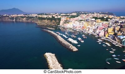 Procida island, Italy - Procida island colorful town with...