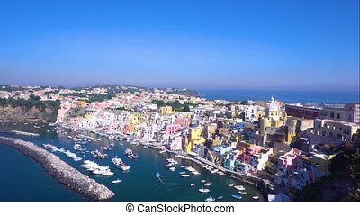 Procida island, Italy - Procida island with colorful houses,...