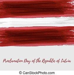 proclamação, dia, de, a, república latvia, fundo