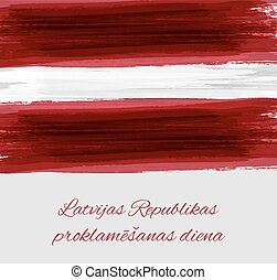 Proclamation Day of the Republic of Latvia background -...