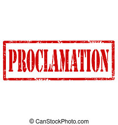 Proclamation-stamp - Grunge rubber stamp with text...
