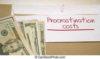 Procrastination costs concept